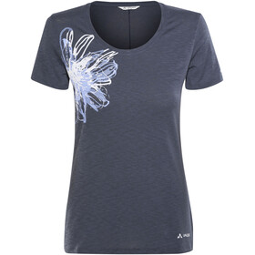 VAUDE Skomer Print II - T-shirt manches courtes Femme - bleu